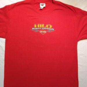 Red Harley Davidson tee shirt